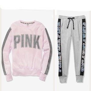 NIP VS PINK BLING JOGGER OUTFIT